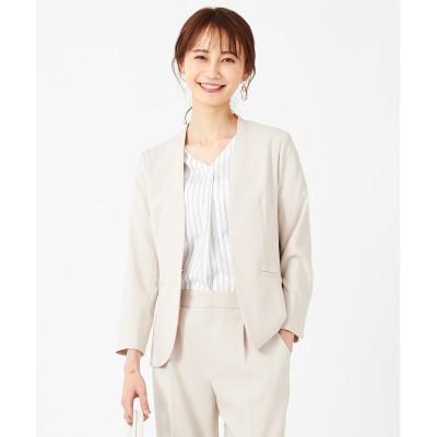 any SiS(エニィスィス)/【洗える】ドライタッチエステル ノーカラー ジャケット