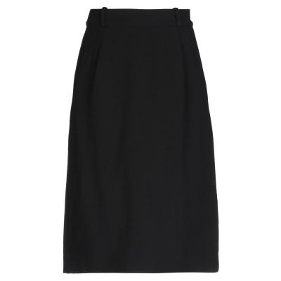 GAETANO NAVARRA ひざ丈スカート ブラック 42 レーヨン 57% / バージンウール 37% / ポリウレタン 4% / ナイロン