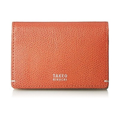 [タケオキクチ] 財布 メンズ 名刺入れ カードケース キャーロ オレンジ