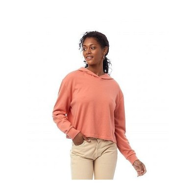 Alternative オルタネイティブ レディース 女性用 ファッション パーカー スウェット Lightweight French Terry Cropped Pullover Hoodie - Sunset Coral
