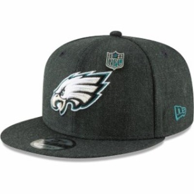 New Era ニュー エラ 帽子 キャップ New Era Philadelphia Eagles Charcoal NFL Heathered Pin 9FIFTY Snapback Adjustable H