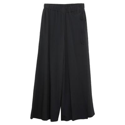 SLOWEAR パンツ ブラック 40 アセテート 52% / シルク 48% パンツ