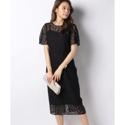 【フォルムフォルマ】【kaene】オールレースタイトドレス