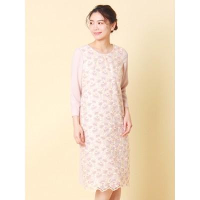 【大きいサイズ】トルコレース刺繍ワンピース 大きいサイズ パーティドレス・ワンピース レディース