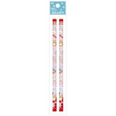 (11) リラックマ ハッピースクール2021 赤鉛筆 2本セット ガチャ PH03901
