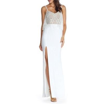 ドレスザポプレーション レディース ワンピース トップス Roselyn Lace Overlay Sleeveless Dress