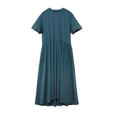 <LE CIEL BLEU(Women)/ルシェルブルー> Pearl Detail Jersey Dress グリーン【三越伊勢丹/公式】