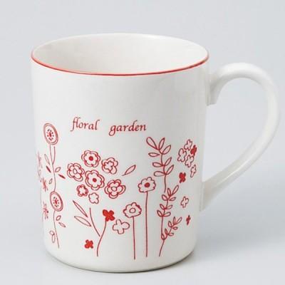 和食器 フローラルガーデンRD軽量 マグカップ カフェ コーヒー 紅茶 珈琲 お茶 オフィス おうち 食器 陶器 おしゃれ うつわ