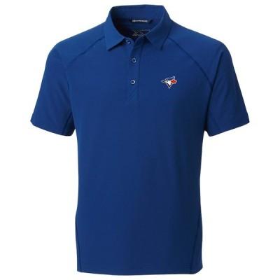 """メンズ ポロシャツ """"Toronto Blue Jays"""" Cutter & Buck Response Woven Polo - Royal"""