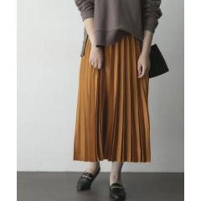 アーバンリサーチロッソサテンプリーツスカート【お取り寄せ商品】