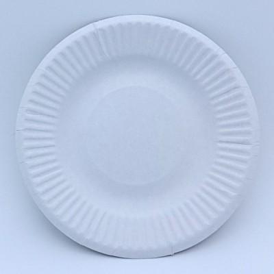紙皿ホワイト4号10.5cm(100枚)業務用 使い捨て紙皿