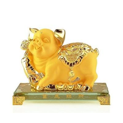 Wenmily 中国十二支動物ゴールデン樹脂コレクターフィギュアテーブル装飾像 Normal Size