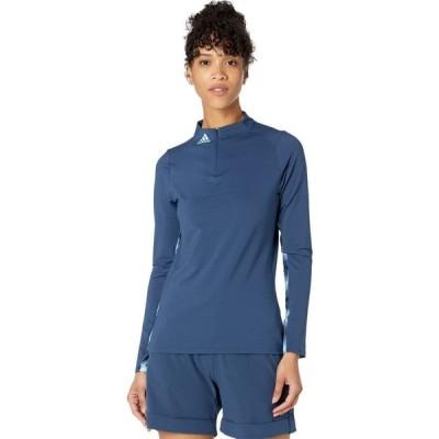 アディダス adidas Golf レディース 長袖Tシャツ トップス Heat.Rdy Long Sleeve T-Shirt Navy/Hazy Sky