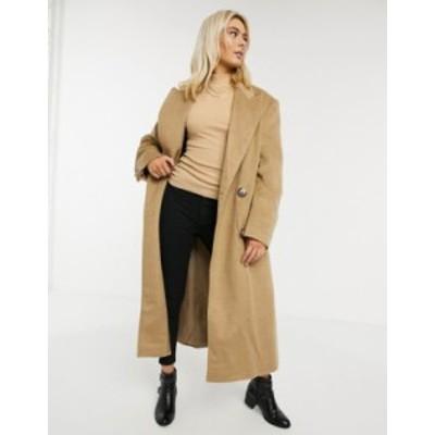 エイソス レディース コート アウター ASOS DESIGN brushed luxe maxi coat in camel Camel