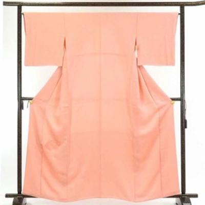 【中古】リサイクル着物 訪問着 / 正絹ピンク地扇面組紐柄袷無地付下訪問着 / レディース【裄Mサイズ】