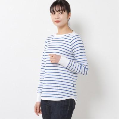 レディース W DFT WAFFLE STRIPED Tシャツ(エーグル/AIGLE)