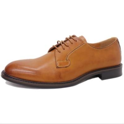 ビジネスシューズ 日本製 本革 外羽根 LIGHT BROWN サラバンド メンズ 革靴 紳士 靴 撥水