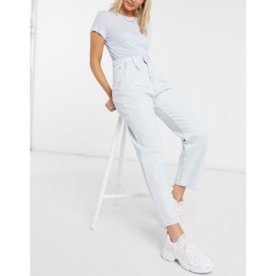 ウィークデイ Weekday レディース ジーンズ・デニム ボトムス・パンツ Fold organic cotton pleat jeans in bleached blue