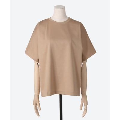 <ebure(women)/エブール> 超長綿スーピマコットン Tシャツ lt brown【三越伊勢丹/公式】