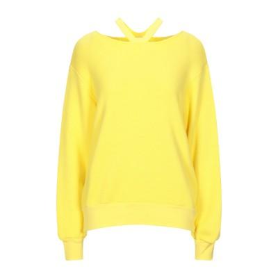 BEN TAVERNITI™ UNRAVEL PROJECT スウェットシャツ イエロー XS コットン 93% / カシミヤ 7% / ポリウレタ