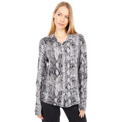 マイケルスターズ レディース シャツ トップス Harley Snake Print Ultra Jersey Knit Shirting