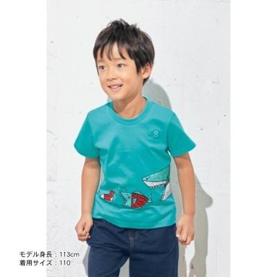 子供服 Tシャツ GITA ジータ 半袖Tシャツ 名札 通園 通学 綿 おしゃれ 男の子 ミント 80 90 100 110 120 130