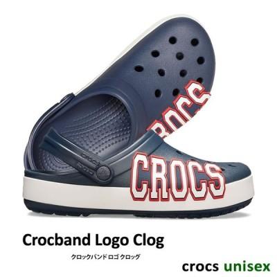 CROCS【クロックス/ユニセックス】Crocband Logo Clog/ クロックバンド ロゴ クロッグ/ ネイビー×ホワイト│205568