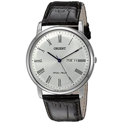 オリエント Orient 腕時計 時計 Orient Men's 'Capital Version 2' Quartz Stainless Steel and Leather Dress Watch, Color:Brown (Model: FUG1R009W9)