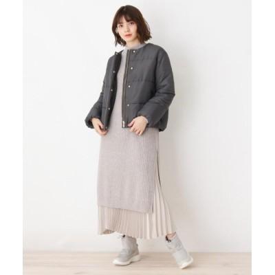 grove(グローブ) 【M-3Lまで】3点SET ジャケット+ニットワンピース+スカート