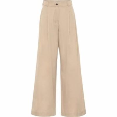 マックスマーラ S Max Mara レディース ボトムス・パンツ High-rise wide-leg cotton pants