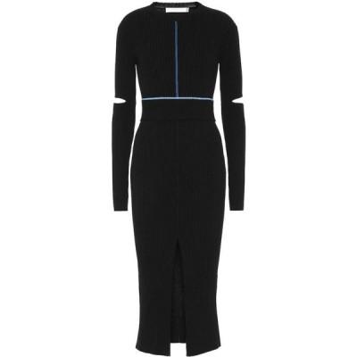ヴィクトリア ベッカム Victoria Beckham レディース ワンピース ミドル丈 ワンピース・ドレス ribbed knit cotton midi dress Black