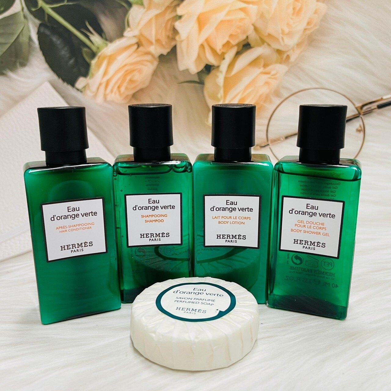 HERMES 愛馬仕 橘綠之泉 旅行組 五件組 40ml + 肥皂 26g D'Orange Verte