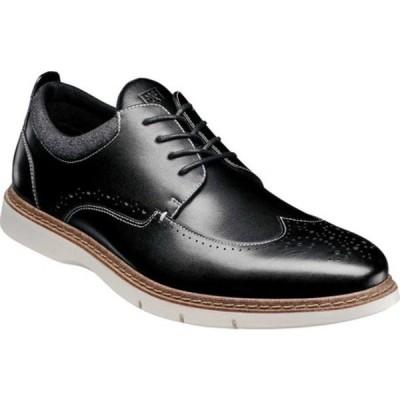 ステイシーアダムス ドレスシューズ シューズ メンズ Synergy Wingtip Oxford (Men's) Black Burnished Smooth Leather