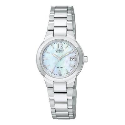 シチズン レディース 腕時計 アクセサリー Women's Eco-Drive Sport Stainless Steel Bracelet Watch 26mm EW1670-59D