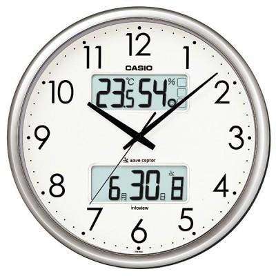 カシオ CASIO 電波時計 ウェーブセプター 掛け時計(温湿度計付) ITM-650J-8JF