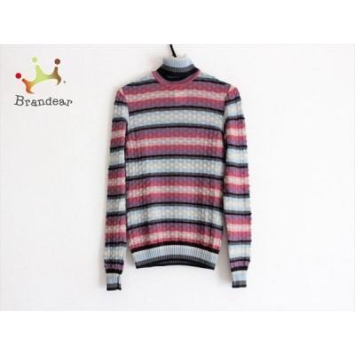ミッソーニ MISSONI 長袖セーター サイズ40 M レディース - ピンク×ライトブルー×マルチ 新着 20210105