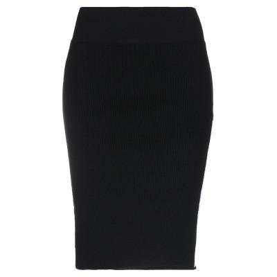NERVURE ひざ丈スカート ブラック M バージンウール 92% / ナイロン 7% / ポリウレタン 1% ひざ丈スカート