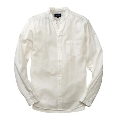PORT BRIDGE(ポートブリッジ) 綿100%ピケ バンドカラースキッパー長袖シャツ カジュアルシャツ, Shirts,