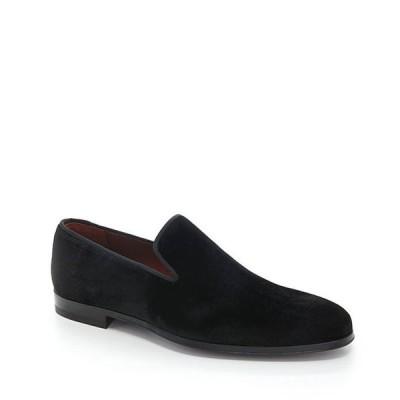マグナーニ メンズ スリッポン・ローファー シューズ Men's Dorio Venetian Velvet Grosgrain Piping Slip-On Loafers