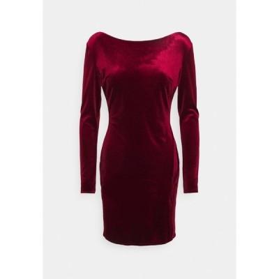ニリーバイネリー ワンピース レディース トップス SPLIT DRESS - Shift dress - wine