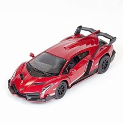 DIE-CAST METAL Lamborghini Veneno 1/36スケール (赤)