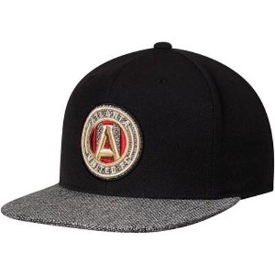 ミッチェル&ネス メンズ 帽子 アクセサリー Atlanta United FC Mitchell & Ness Woven Team Color Fitted Hat Black/Gray
