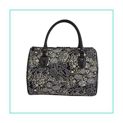 【新品】Signare Tapestry Duffle Bag Overnight Bags Weekend Bag for Women with Black & White Gustav Klimt Travel Design (TRAV-KISS)(並行輸入