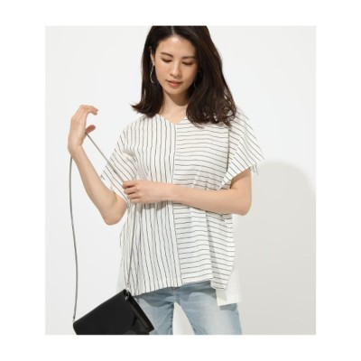 DOKING STRIPE TOPS 柄WHT5