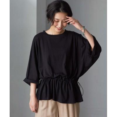 【ジーラ】 ウエストスピンドルTシャツ        レディース ブラック M GeeRA