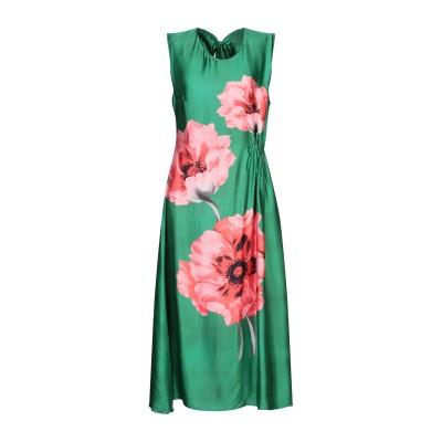 SISTE' S 7分丈ワンピース・ドレス グリーン XS レーヨン 100% 7分丈ワンピース・ドレス