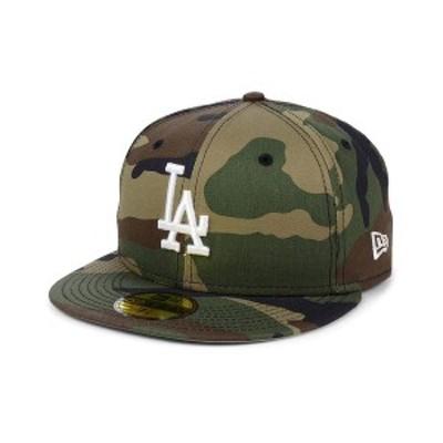 ニューエラ メンズ 帽子 アクセサリー Los Angeles Dodgers Woodland Basic 59FIFTY Fitted Cap WoodlandCamo