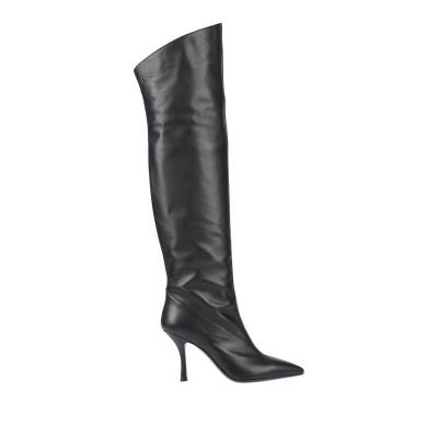 TIFFI ブーツ ブラック 36 牛革(カーフ) ブーツ