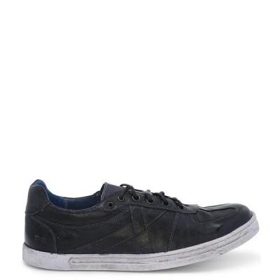 ベッドステュ メンズ スニーカー シューズ Men's Muller Leather Distressed Sole Lace-Up Sneaker Navy Rustic