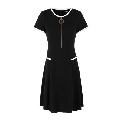 DKNY ミニワンピース&ドレス ブラック 2 ポリエステル 94% / ポリウレタン 6% ミニワンピース&ドレス